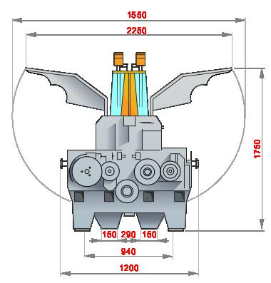 вальцевый станок крокодил схемы_размеры с открытыми капотами