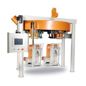 Четырехстанционный Весовыбойный Аппарат для Муки Карусельного Типа с Двухступенчатым Взвешиванием