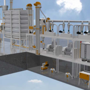 Мукомольная система 1250 (Производительностью 28-30 тонн/сутки)