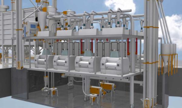 Мукомольная система 4250 ( производительностью 110-120 тонн/сутки)
