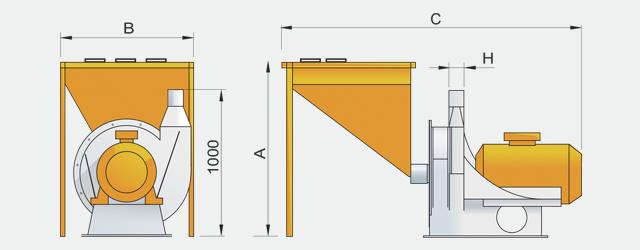 Молотковая дробилка измельчитель для комбикормовых заводов.