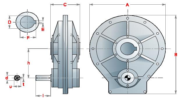 Цилиндрический редуктор_T_Series_01