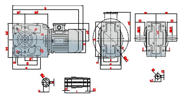 KRM motor redüktörü
