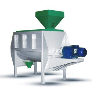 Горизонтальня мешалка (миксер) для комбикормового завода. Комбикормовое оборудование.